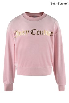 Juicy Couture Pink Velour Crew Top