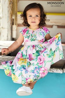 Monsoon Pink Baby Wallflower Print Dress