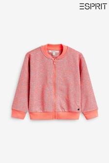 Esprit Pink Neon Leopard Zip Up Sweat