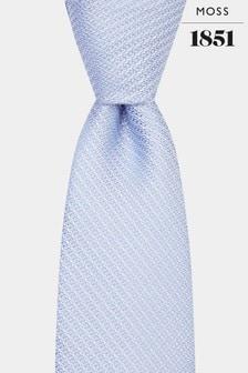 Moss 1851 Sky Blue Knit Texture Tie