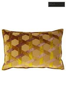 Riva Home Yellow Delano Geo Jacquard Cushion