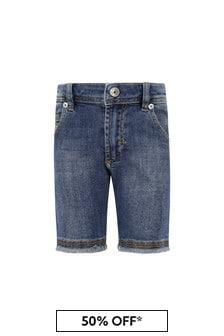 Diesel Baby Boys Blue Cotton Shorts