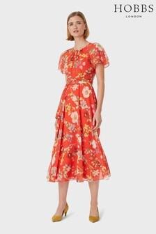 Hobbs Red Sarah Dress