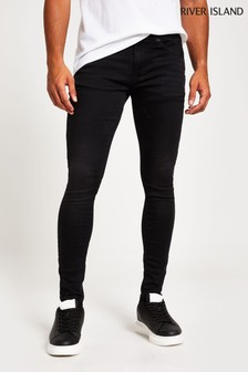 River Island Black Spray On Caine Tiffany Jeans