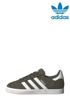 adidas Originals Khaki Gazelle Youth Trainers