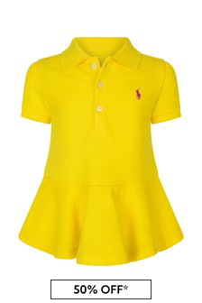 Baby Girls Yellow Pique Dress