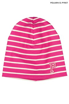 Polarn O. Pyret Pink Organic Cotton Beanie Hat