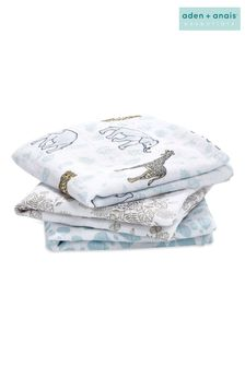 aden +anais Cotton Muslin Jungle Squares Three Pack
