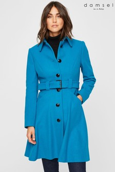 Damsel In A Dress Blue Reeba Coat