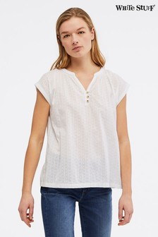 White Stuff White Beach Break Jersey Top