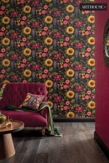 Summer Garden Floral Wallpaper by Arthouse