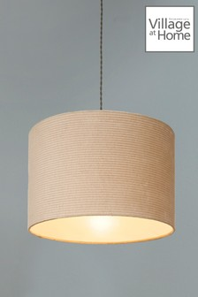 Village At Home Cord Cylinder Pendant Shade