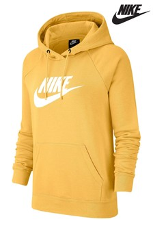 Nike Essential Fleece Gold Logo Overhead Hoody