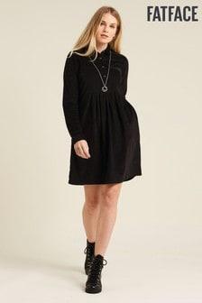 FatFace Black Lena Cord Dress