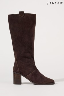 Jigsaw Brown Baxter Suede Calf Boots