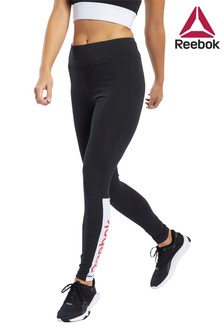 Reebok Black Linear Logo Leggings