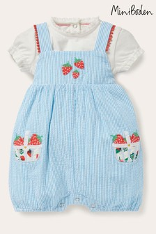Boden Blue Fruit Romper Set