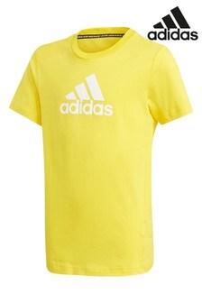 adidas Yellow Icon T-Shirt