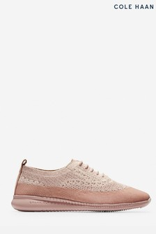 Cole Haan Pink 2.Zerogrand Stitchlite Oxford Lace-Up Water Resistant Shoes