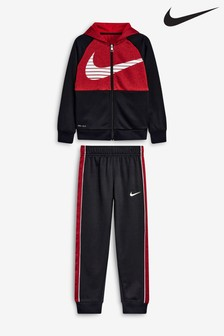 Nike Little Kids Navy Therma Hoody And Joggers Set