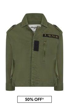 Girls Khaki Cotton Jacket