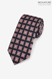 Signature Medallion Print Silk Tie