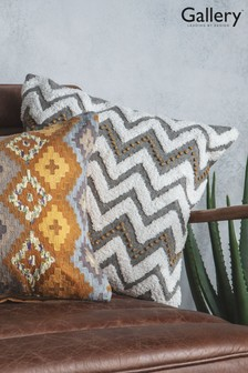 Gallery Direct Casablanca Hand Embroidered Zig Zag Cushion