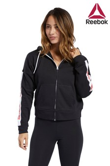 Reebok Black Linear Logo Full Zip Hoody