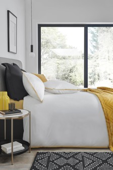 Cotton Rich Border Duvet Cover and Pillowcase Set