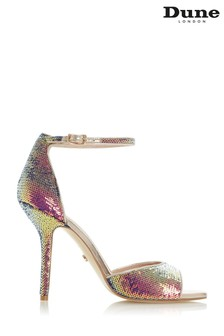 Dune London Metallic Millionaire 2 Part High Heeled Sandals