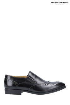 Steptronic Black Felix Slip-On Brogues