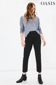 Oasis Black Edie Straight Leg Jeans