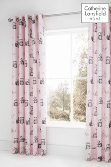 Woodland Friends Eyelet Curtains by Catherine Lansfield