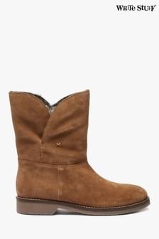 White Stuff Brown Freya Faux Fur Lined Boots