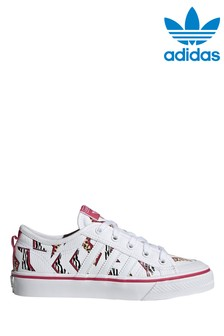 adidas Originals White Print Nizza Trainers