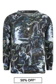 Boys Organic Cotton Jungle Sweater