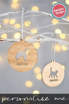 Personalised Wooden Dog Breed Decoration by Oakdene Designs