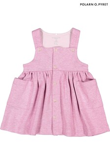 Polarn O. Pyret Purple GOTS Organic Pinafore Dress