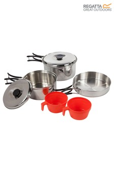 Regatta Silver Compact Steel Camping Cook Set