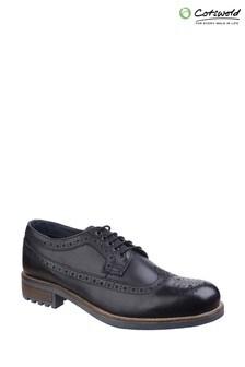 Cotswold Black Poplar Brogue Dress Shoes