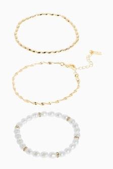 Set Armbänder in Perlenoptik