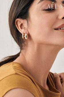 Aela Clean Gold Tone Metal Earrings 3 Pack