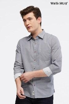 White Stuff Blue Patterson Sprig Geo Shirt