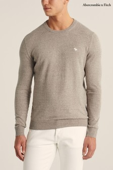 Abercrombie & Fitch Oatmeal Knit Crew Jumper