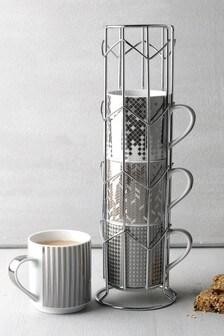 Set of 4 Celeste Stacking Mugs