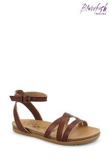 Blowfish Brown Maylie Multy Strap Footbed Sandals