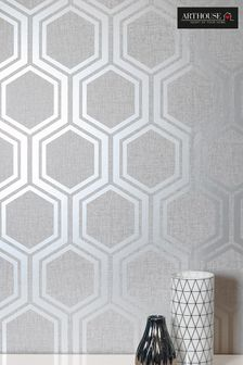 Luxe Hexagon Geo Wallpaper by Arthouse