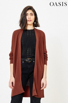 Oasis Ribbed Longline Cardigan