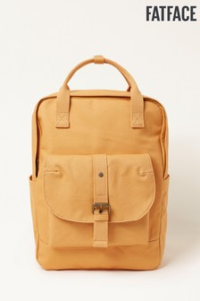 FatFace Yellow Canvas Backpack