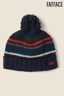 FatFace Blue All Over Stripe Beanie